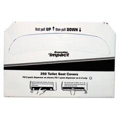 1/2FLD TOILET SEAT CVR WHI 5000/CS