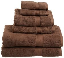 Budget Graded Bath Towels in Brown color