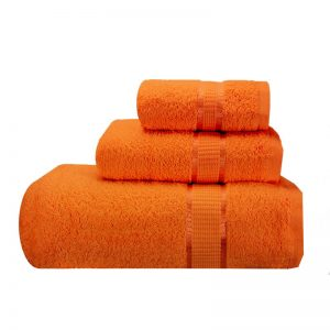 Budget Graded Bath Towels in Orange color