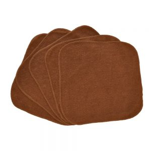 Budget Graded Brown Washcloths