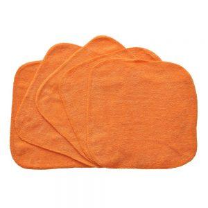 Budget Graded Orange Washcloths