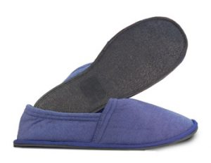 Men's Navy Terry Cloth Slipper