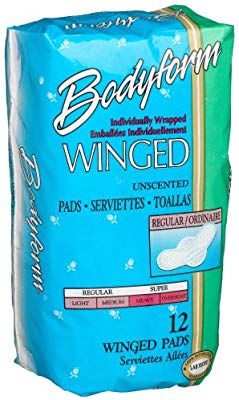 Bodyform Winged, Regular Maxi Pads, Wrapped (432/cs)