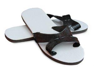 X Black Cross Strap Shower Sandal