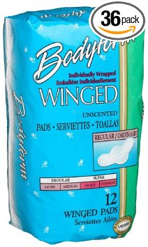 Bodyform Winged, Regular Maxi Pads, Wrapped