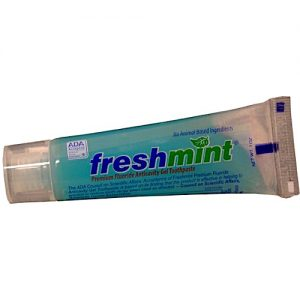 1 oz ADA Approved Freshmint Premium Clear Gel Toothpaste