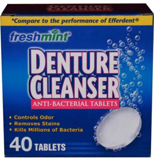 Boxed Denture Cleanser Tablets 40 tablets (24/pack)