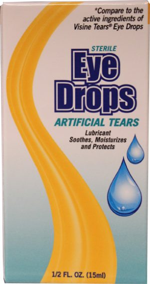.5oz Artificial Tears Eye Drops $1.70 Each (48sc)