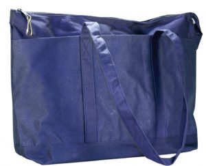 NAVY CANVAS DIAPER BAG