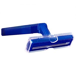 TWIN BLADE RAZOR (NAVY HANDLE) BULK PACKED 144
