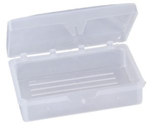 Hinged Soap Dish Fits Up To 3 oz Bar (Clear)(100/pack)
