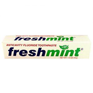 1.5 oz. Freshmint Fluoride Toothpaste, individual box (144cs)