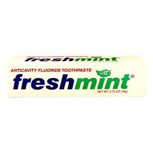 2.75 oz. Freshmint Fluoride Toothpaste (individual box) $0.53 each (144/cs)