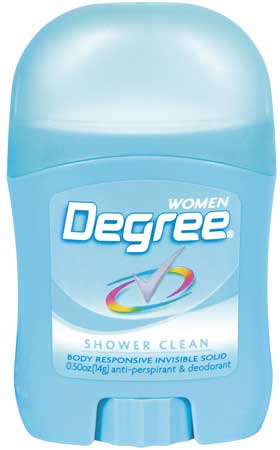 Degree Stick Antiperspirant For Women, 0.5 oz. $0.98 ea (36/cs)