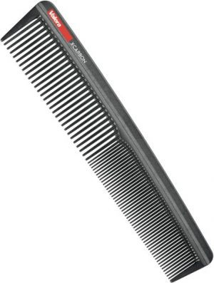 Professional hair dressing carbon combthat is made of 20% high carbon fiber content and guarantees high heat and chemical resistance.