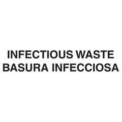 Bilingual Label – Infeious Waste; 7iHx10iW