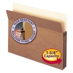 1 3/4″ Accordion Expansion Pocket, Straight Tab, Ltr, Manila/Redrope, 25/Box