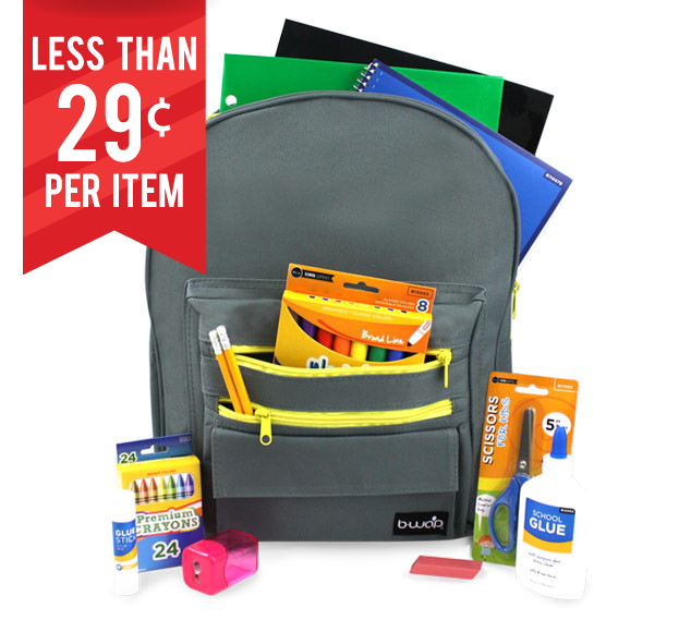 Operation Back to School! Customize Your School Supply Kits for Donation