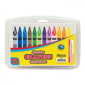 12 Color Premium Jumbo Crayons (12/pack)