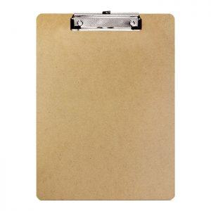 Standard Size Hardboard Clipboard w/ Low Profile Clip (12/pack)
