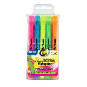 Fluorescent Gel Highlighter 5 Color
