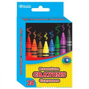 24 Color Premium Crayons (24/pack)