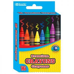 16 Color Premium Crayons  (16/Pack)