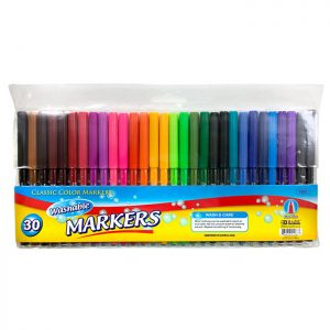 30 Color Fine Line Washable Watercolor Markers (30/Pack)