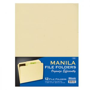 1/3 Cut Letter Size Manila File Folder (12/Pack)