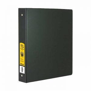1″ Black 3-Ring Binder w/ 2-Pockets $1.50 ea (12/Cs)