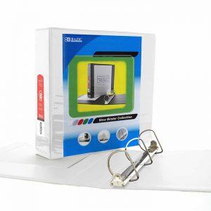 2″ White Slant-D Ring View Binder w/ 2-Pockets