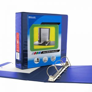 2″ Blue Slant D-Ring View Binder w/ 2 Pockets