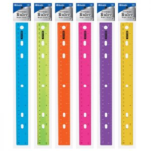 12″ (30cm) Jeweltones Color Ruler (24/pack)