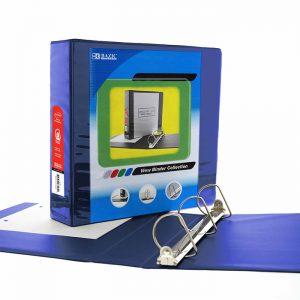 3″ Blue Slant D-Ring View Binder w/ 2 Pockets