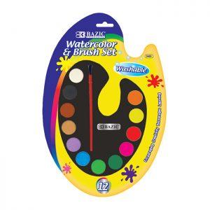 12 Ct. Watercolor w/ Brush (12/pack)