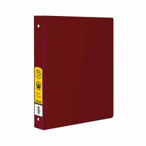 1″ Burgundy 3-Ring Binder w/ 2-Pockets $1.50 ea (12/Cs)