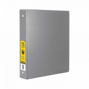 1″ Grey 3-Ring Binder w/ 2-Pockets $1.50 ea (12/Cs)