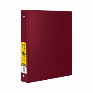 1.5″ Burgundy 3-Ring Binder w/ 2-Pockets