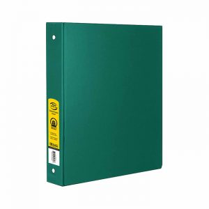 1.5″ Green 3-Ring Binder w/ 2-Pockets