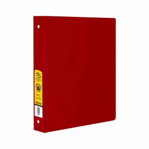 1.5″ Red 3-Ring Binder w/ 2-Pockets
