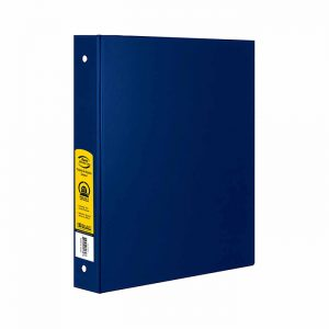 1.5″ Blue 3-Ring Binder w/ 2-Pockets