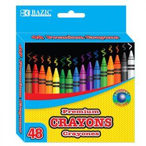 48 Color Premium Crayons (48/Pack)