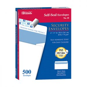 #10 Self-Seal Security Envelope (500/Box)