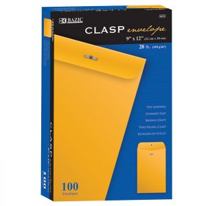9″ X 12″ Clasp Envelope (100/Box)