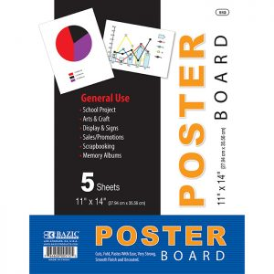 11″ X 14″ White Poster Board (5/Pack)
