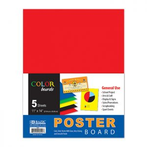 11″ X 14″ Multi Color Poster Board (5/Pack)