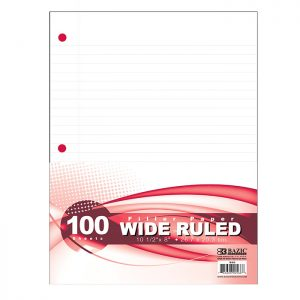 Filler Paper W/R 100 Ct. $0.96 ea (36/Cs)