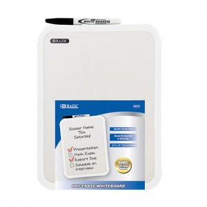8.5″ X 11″ Dry Erase Board w/ Marker (12/pack)