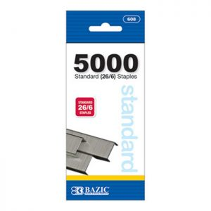 5000 Ct. Standard (26/6) Staples (24/pack)