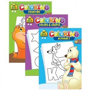 SCHOOL ZONE Coloring & Activity Books (48/pack)